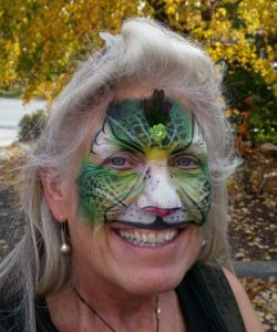 Trish Daniels of Fake-a-Face Face Painting in Banner Elk, NC