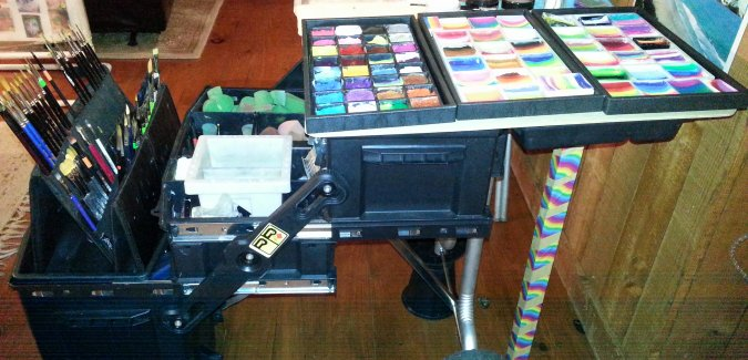 Face Painting Set Up & Equipment; Banner Elk North Carolina